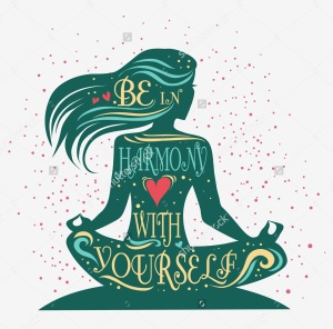 stock-vector-be-in-harmony-with-yourself-fitness-typographic-poster-meditation-girl-lotus-pose-motivational-327086120